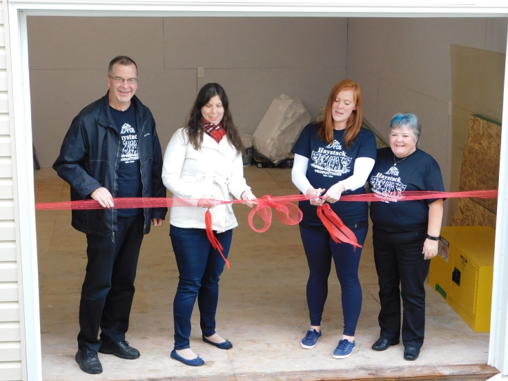 Haystack Show Shed ribbon cutting